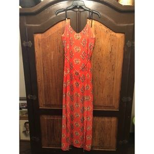Aztec Maxi flowy dress